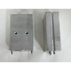 Disipador de aluminio 3x4,7x1,2 macizo