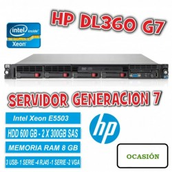 Servidor Hp Proliant DL360 G7