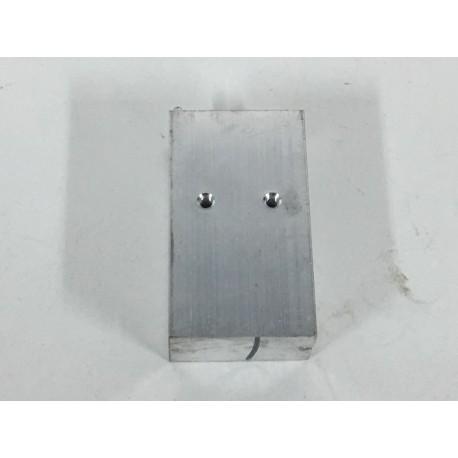 Disipador aluminio 52x11x29mm